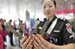 哈尔滨太平国际机场HI-PE金属安检门拦截电击器199件[图]